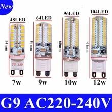 2020 Cree offre spéciale lampe à LED G9 ampoule de maïs ca 220V 7W 9W 12WSMD 2835 3014 lumière LED 360 degrés Angle de faisceau projecteur lampes ampoule
