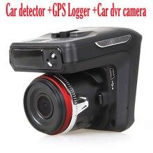 "(Russo Voice) Rivelatore Del Radar dell'automobile 3 in1 camera dvr 150 gradi lens Full HD 1280x720 P 30FPS 2.4 ""TFT laser Logger GPS tracker."