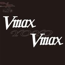 ملصقات شعار Vmax لدراجة نارية مجانية الشحن ملصقات V-MAX ملصقات انسيابية لخزان الوقود