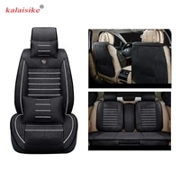 kalaisike linen universal car seat covers for chevrolet all models captiva cruze lacetti spark sonic lanos car accessories