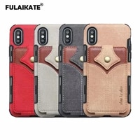 fulaikate maple leaf cloth case for iphone xs max xr matte card pocket back cover for iphone 6s 7 8 plus phone protective cases