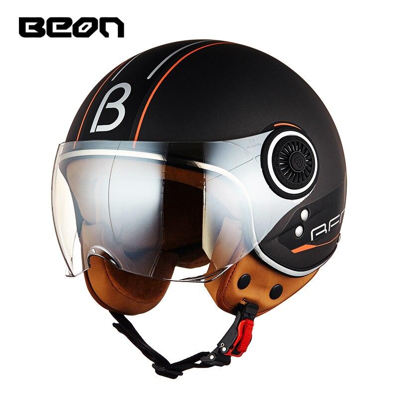 BEON-Casco de Moto Chopper 3/4, Casco clásico de cara abierta para hombre y mujer, Casco para Moto