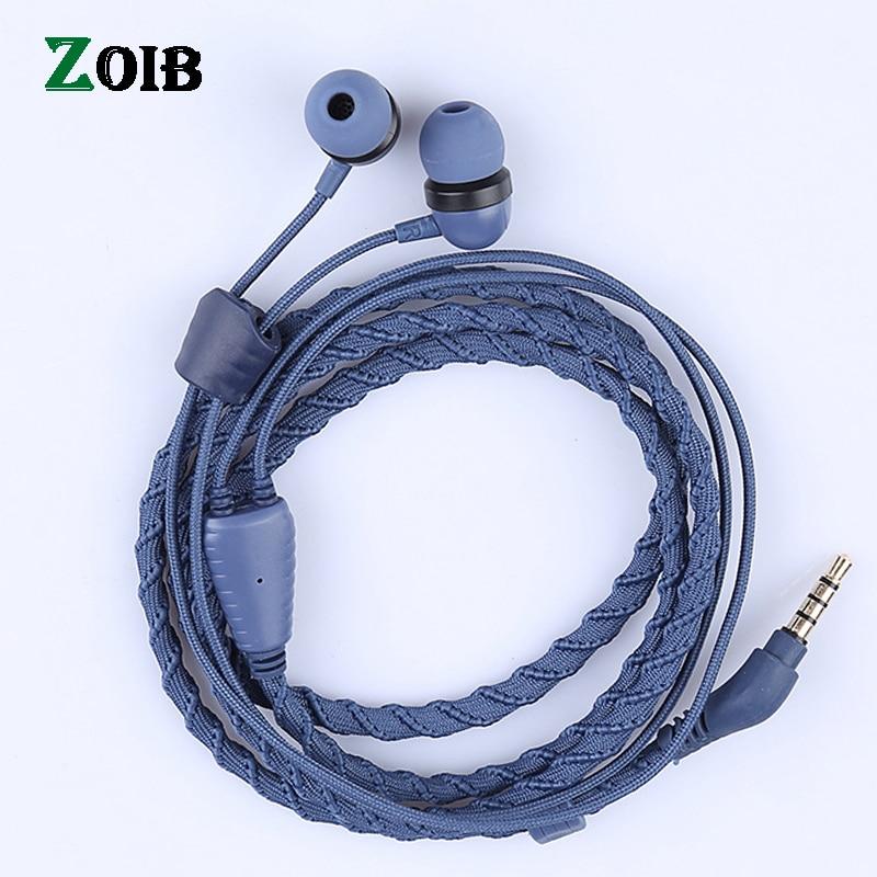ZOIB aplicable a teléfonos móviles de Apple, auriculares de pulsera de control de línea de moda con micrófono.