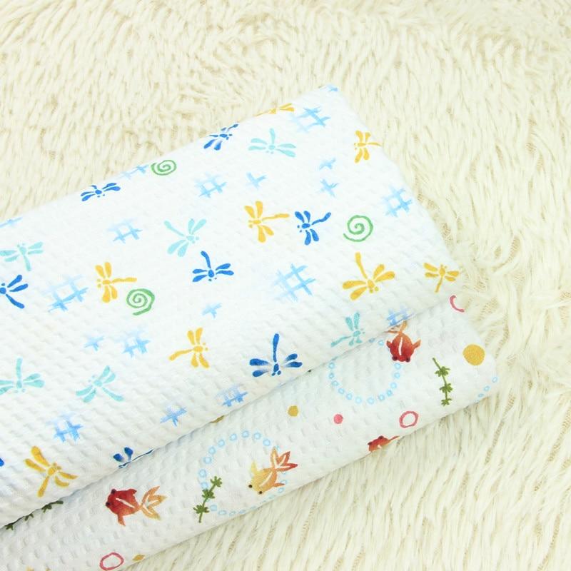 Alta calidad papaw algodón patchwork libélula impresión telas hechas a mano DIY patchwork bolsa ropa tela
