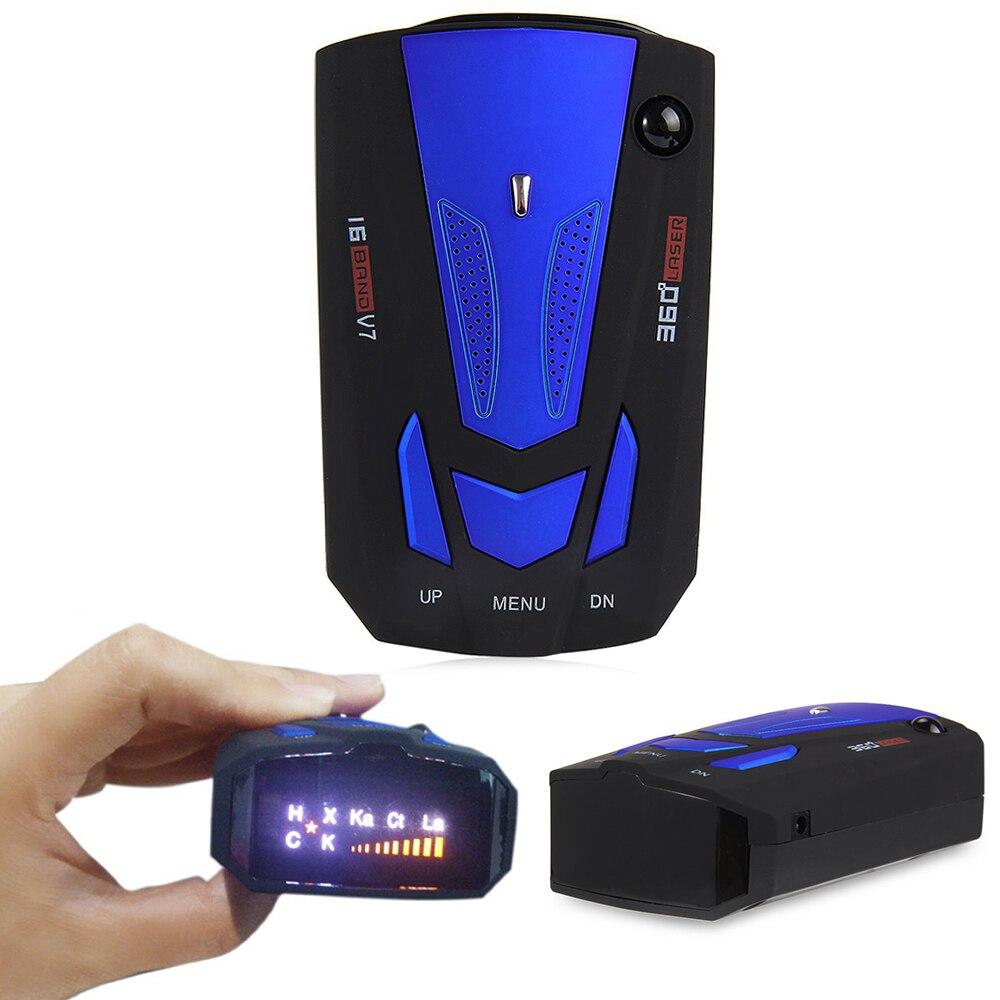 2020 Anti Radar Detector de Radar para coche láser Detector de Radar coche ruso Detector de V7 sonido alerta de advertencia de velocidad 16 pantalla LED