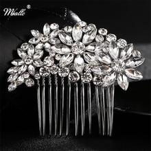 Miallo brand Korean Bride Head Jewelry Fashion Full Crystal Rhinestone Wedding Bridal Hair Comb Hair Accessories for Women