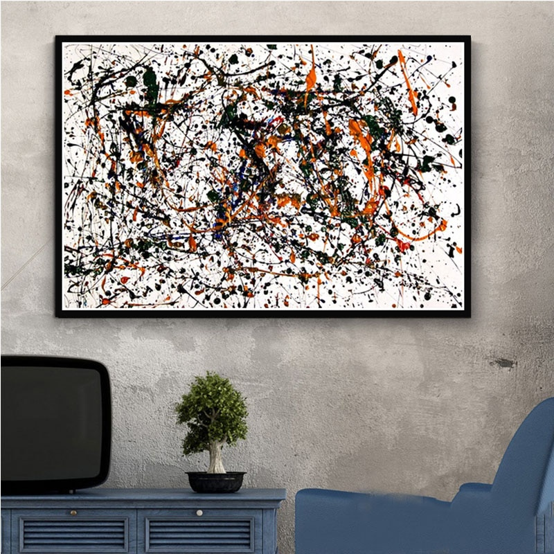 Jackson Pollock pintura psicodélica póster e impresiones lienzo cuadros de pared decoración del hogar