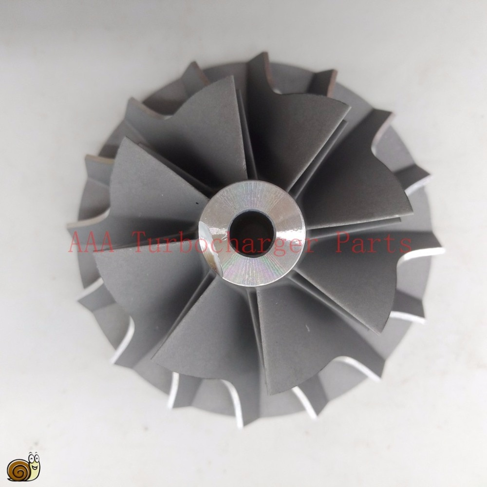 T04E Turbo partes rueda de compresor 48,5x70mm, cuchillas 8/8 proveedor AAA piezas del turbocompresor