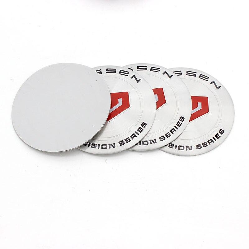 20 piezas cromado de buena calidad, 65mm, 56mm, emblema de coche, insignia, pegatina cubo de rueda para Auto VOSSEN, tapas de centro de rueda, cubiertas de estilo de coche