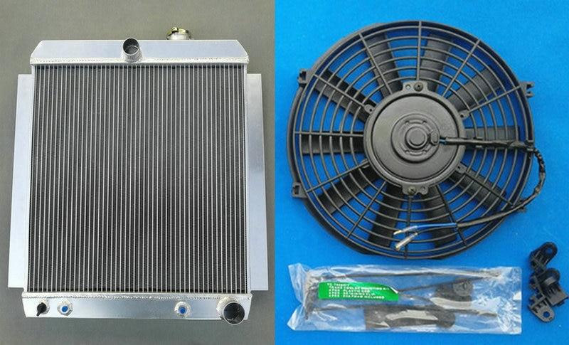 Radiador de aluminio a precio de fábrica + ventilador para camioneta CHEVY 48-54 l6 C/K/3100/3600/3700/3800/3900