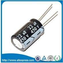 Condensateur électrolytique en aluminium   10 pièces 450 V 22 UF 22 UF 450 V, taille 450 V / 22 UF, condensateur électrolytique 13*21mm, livraison gratuite