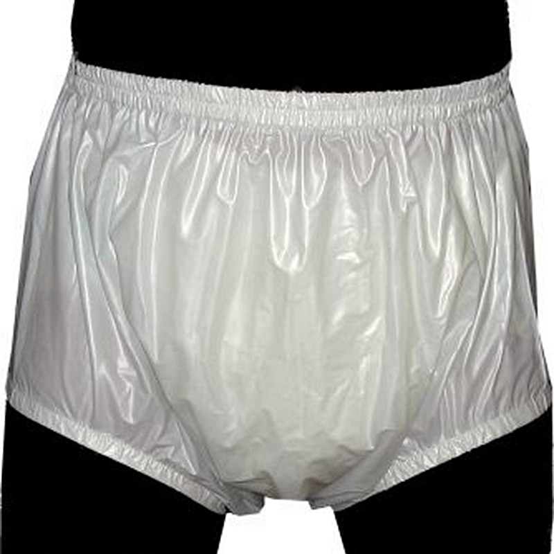 FUUBUU2201-Blue-XL-2PCS bóxer de plástico para hombre, ropa interior, pantalones cortos de incontinencia de pvc, envío gratis