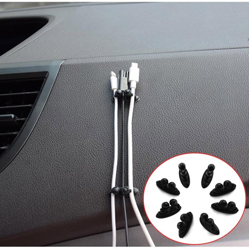 8 Uds pinza de Cable de coche titular del Cable para el Nissan Qashqai J11 Juke Almera Tiida de nota Pathfinder Patrol Primera X-trail Teana