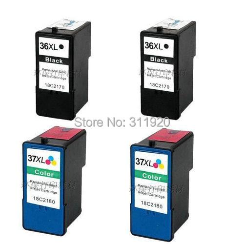 Einkshop para Lexmark 36 37 cartucho de tinta para Lexmark X3650 X4650 X5650 X6650 X6675 Z2420 impresora