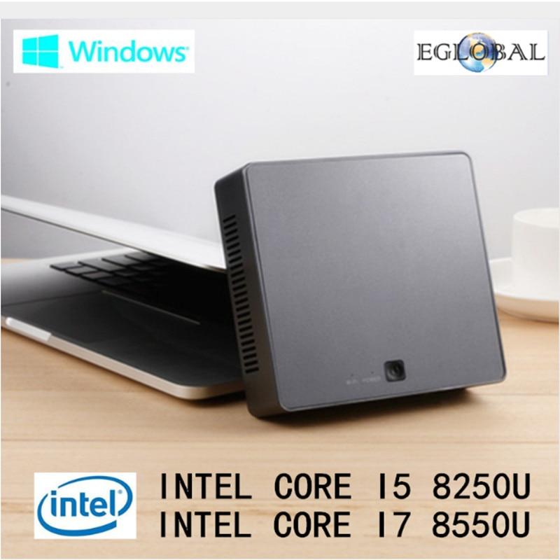 EGLOBAL Kaby Lake R cena Nuc mini pc i5 8250U i7 8550U Quad Core 8 hilos Intel UHD gráficos 620