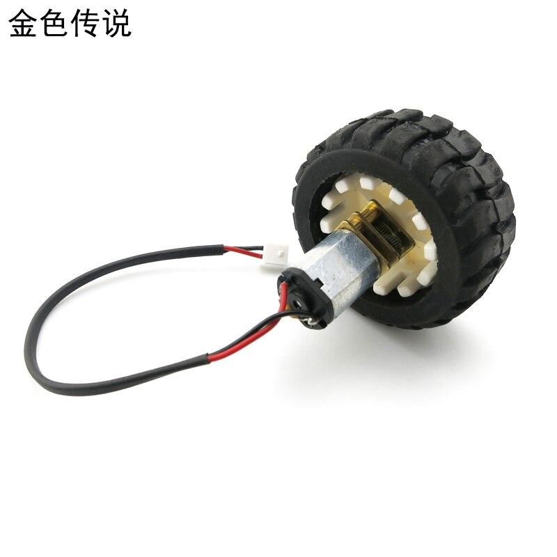 Conjunto Roda Robô Carro Inteligente Do Motor N20 Motoredutor Micro Motor Pequeno Motor Redutor