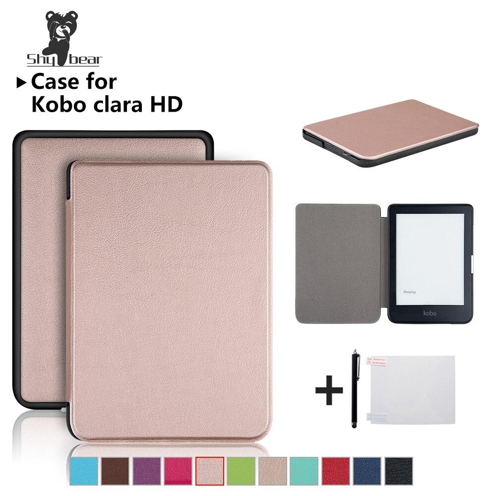 Caso para novo kobo clara hd 6 Polegada plutônio ultra fino couro ereader smart cover caso automático wake/dormir + dom gratuito
