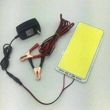 ZZEL ZYEL 2mm 두께 DC12V 60W 336led 칩 스트립 플립 COB LED 패널 빛 L220X112MM 6000LM cob LED 튜브 캠핑 램프 빛