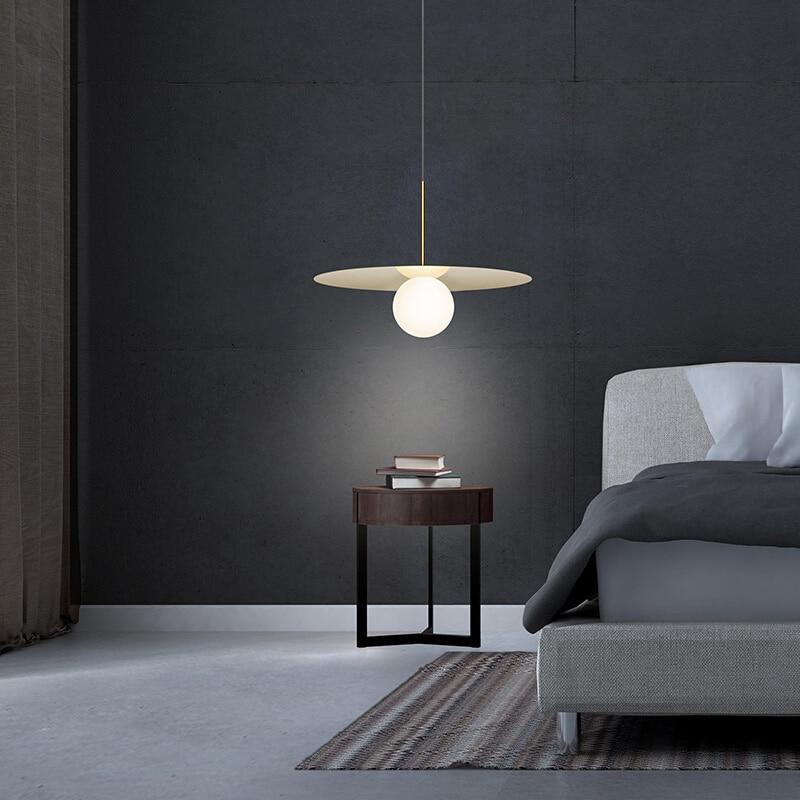 Nordic Restaurant Iron Art Single Pendant Light Simple Modern Bar Dining Room Pendant Lamp Bedroom Decoration Led Light Fixtures