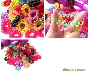 Multicolor Telephone Line ring thickening elasticity rubber hair band tie hair accessory hair maker tools 50pcs/lot