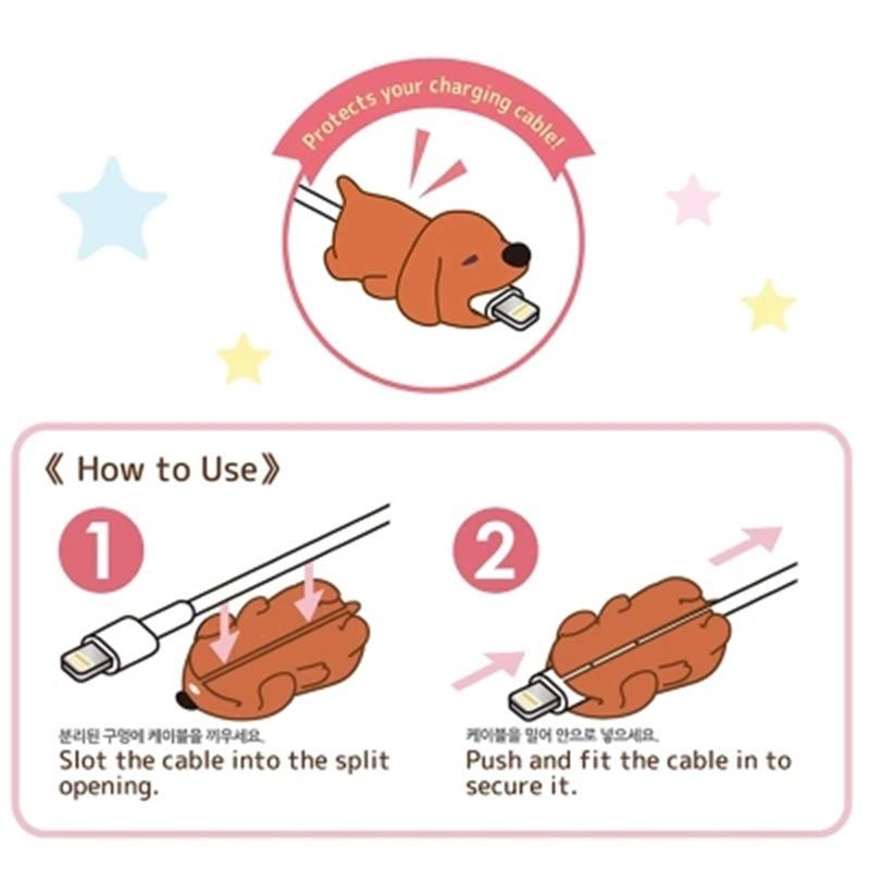 Защитный кабель в форме милых животных, Мягкий силикон, защита от поломки, кабель для передачи данных, аксессуары для сотовых компьютеров, мобильный телефон-5