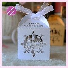 Boîte à bonbons et gâteaux au chocolat 50 pièces/lot   Décoration de fête de noël dernier design blanc avec logo gratuit 3/4