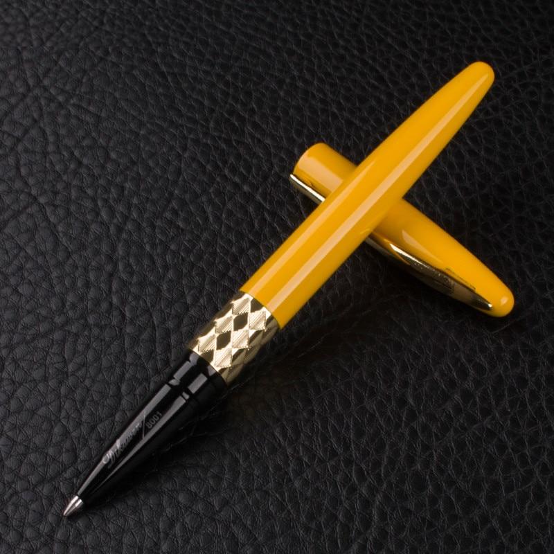 Высококачественные роскошные ручки-роллеры с золотистым зажимом 0,5 мм, шариковая ручка caneta, школьные Канцтовары для письма, гелевая ручка
