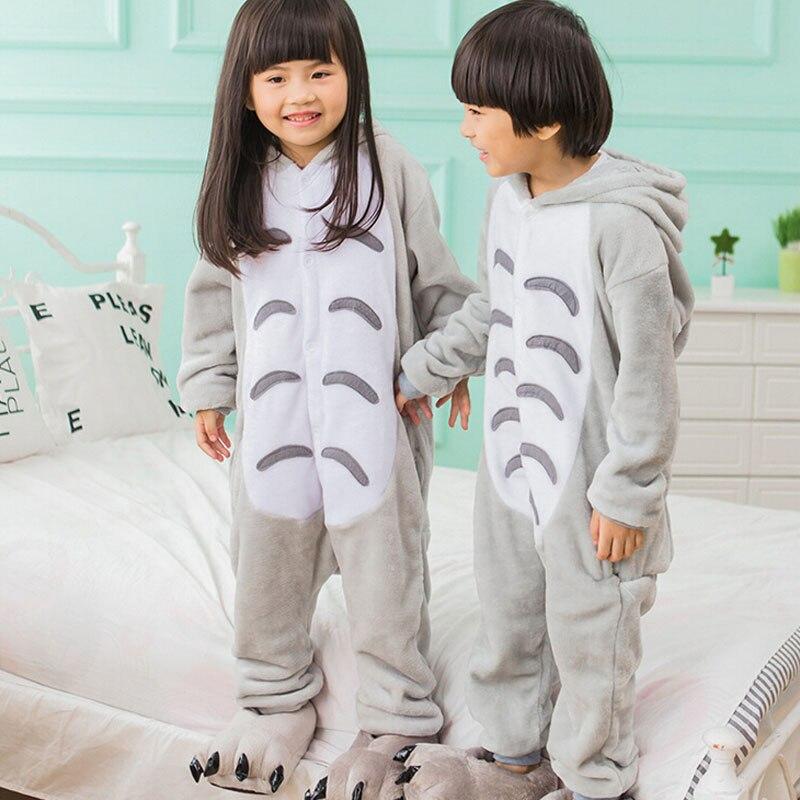 Кигуруми для мальчиков и девочек, аниме «Тоторо», мягкая Пижама для косплея, костюм животного, детский Забавный карнавальный комбинезон