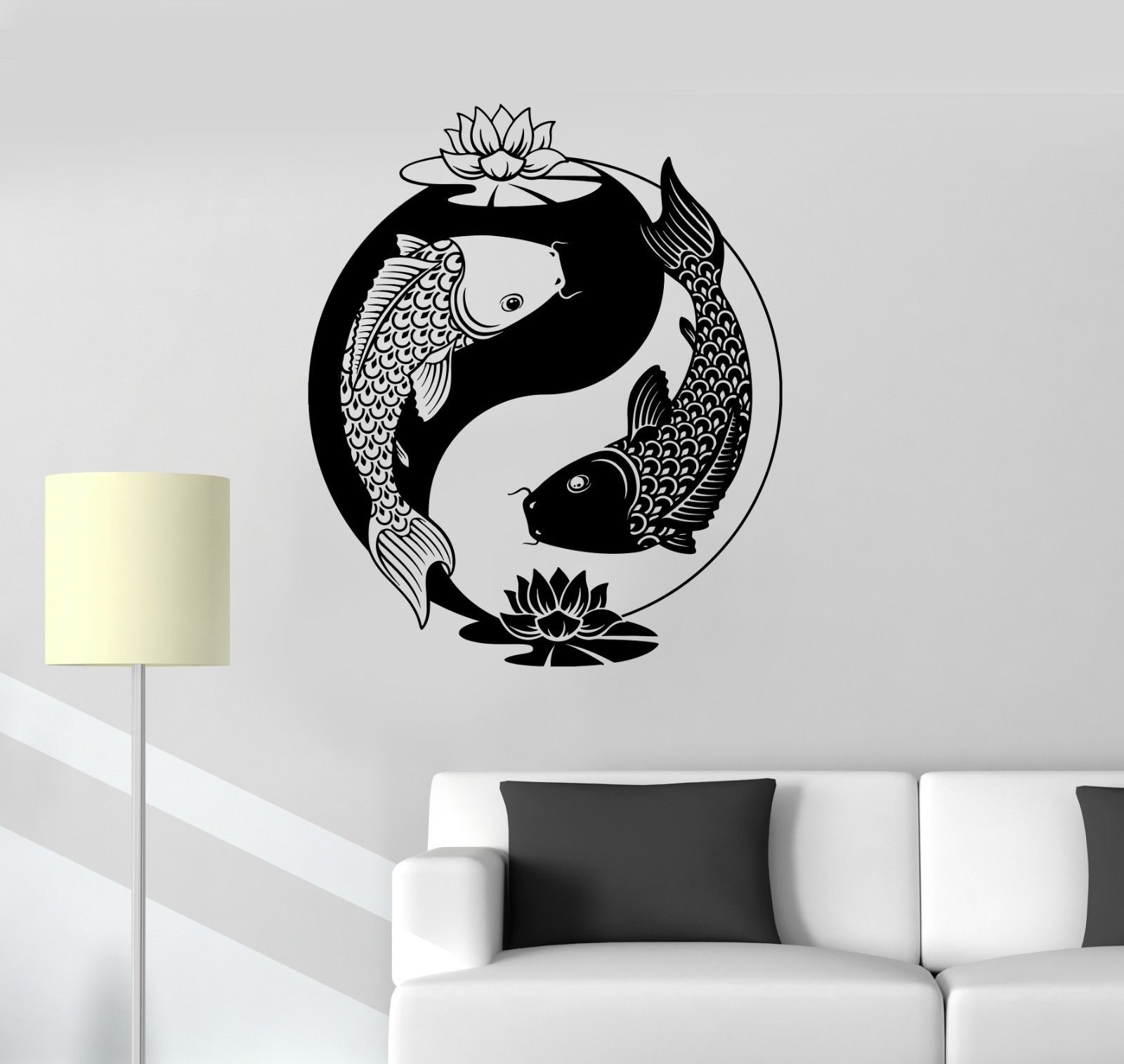 Yin Yang Tai loto chino filosofía Zen peces vinilo pared pegatina etiqueta envío gratuito