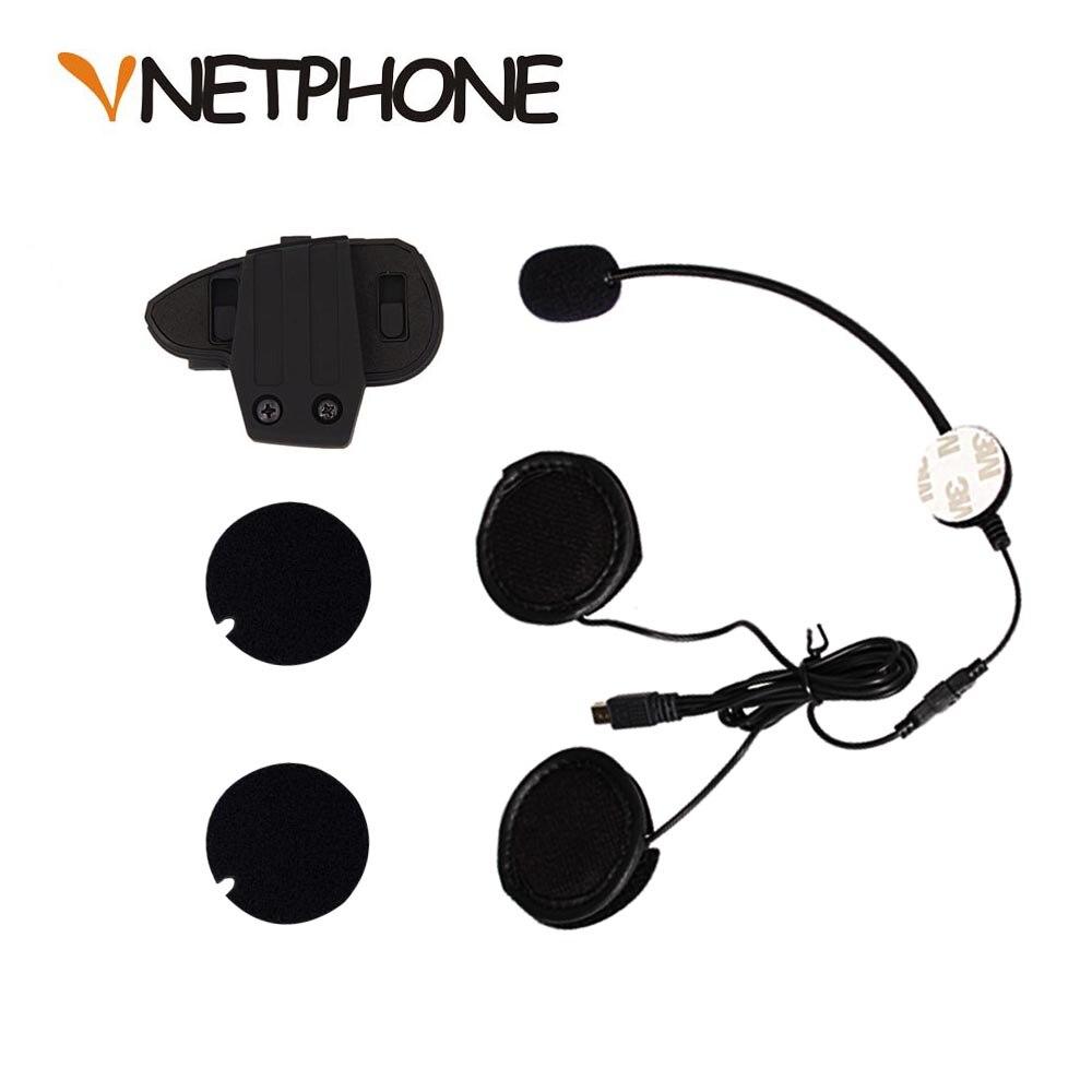 10Pin мини USB разъем микрофон динамик гарнитура и Шлем Интерком клип для мотоцикла Bluetooth устройство VNETPHONE V8