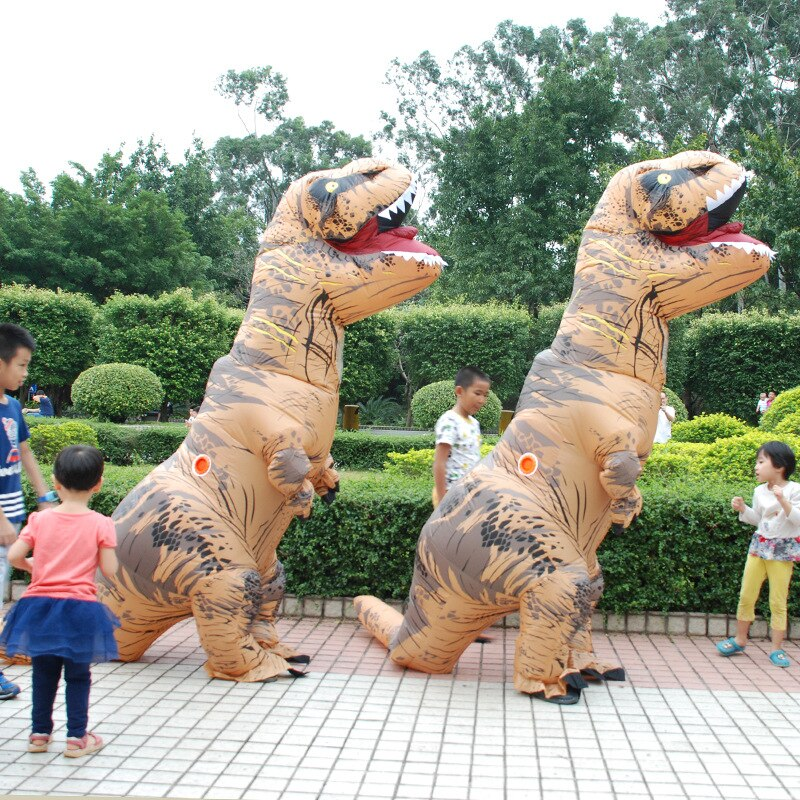 Party Wedding Adult T-REX Inflatable Costume Christmas Cosplay Dinosaur Animal Jumpsuit Halloween Costume for Women Men