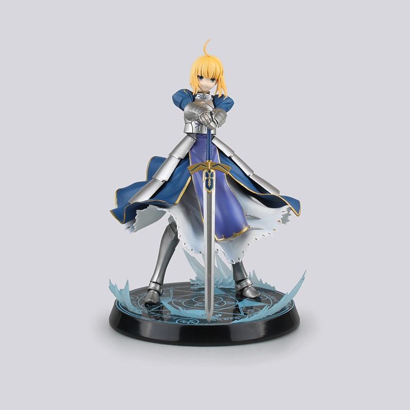 Figura de Anime Fate Stay Night sable UBW rey de los Caballeros figura de acción de PVC coleccionable modelo Brinquedos Juguetes para niños Juguetes 26cm