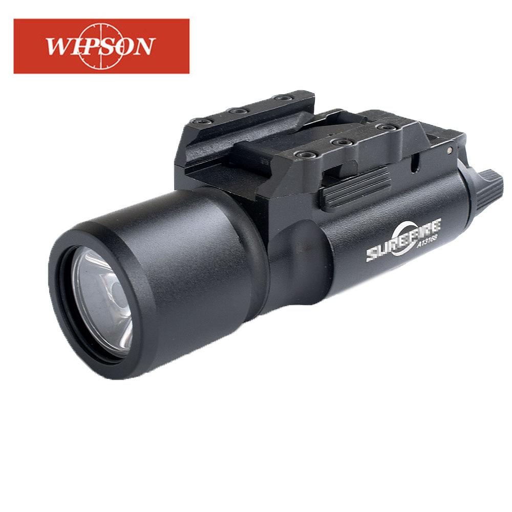 WIPSON Tactical X300 Flashlight Waterproof Weapon Light Pistol Gun Lanterna Rifle Picatinny Weaver M