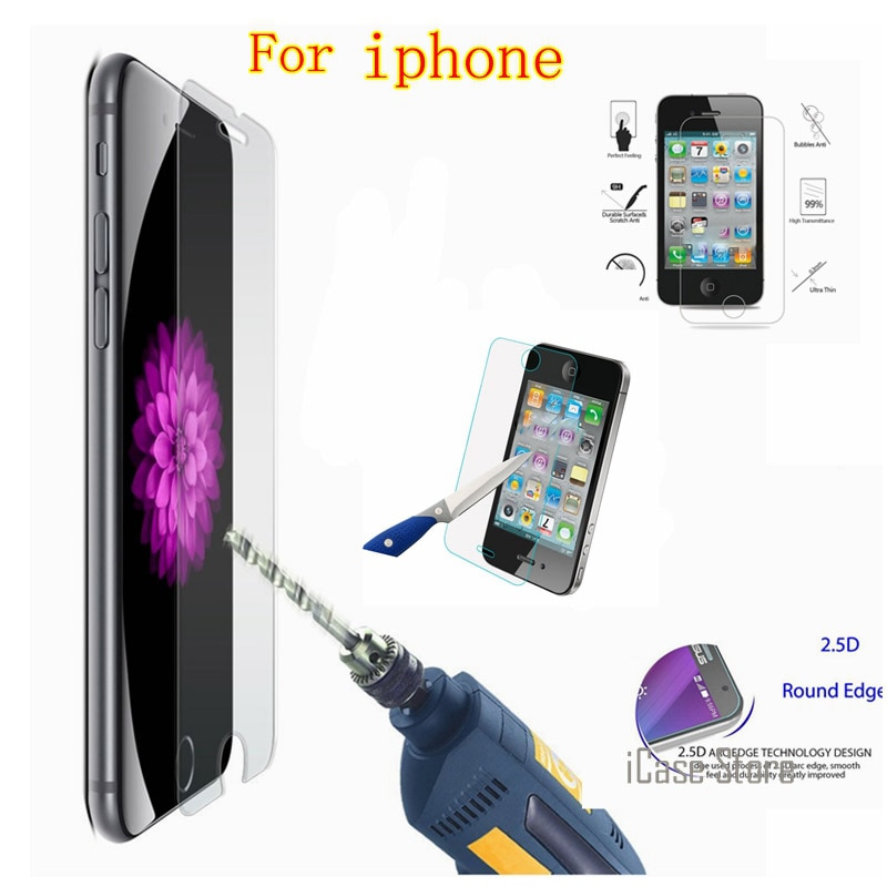 Protector de Pantalla de Vidrio templado para iPhone 4 4S 5 5S...
