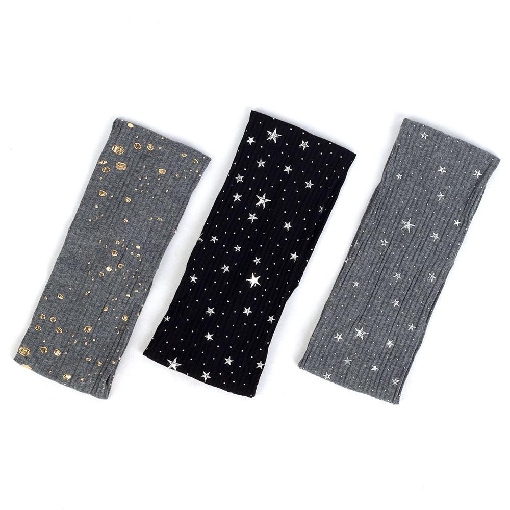 Diadema acanalada a la moda para mujer, diadema estampada con lunares pintados con salpicaduras de estrellas para mujer, accesorios para el pelo turbante AQ004C