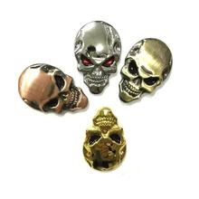 Logos de crâne en métal   Badge demblème pour le dos de la voiture