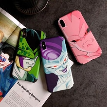 Hot Dragon Ball Super Frieza soft silicon cover case for iphone 6 plus 7 11 Pro 8 8plus X XR XS MAX Buu Son Goku phone coque