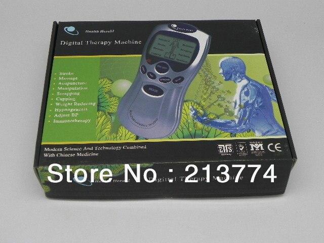Tens acupuntura máquina de terapia Digital masajeador electrónico masajeador corporal por pulsos productos para el cuidado de la salud envío gratis 2 unids/lote