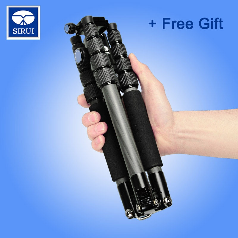 Mini trípode de carbono de Viaje + Kit de cabezal de bola envío gratuito con DHL profesional Sirui T025X + C10X para cámara Digital SLR soporte pata soporte