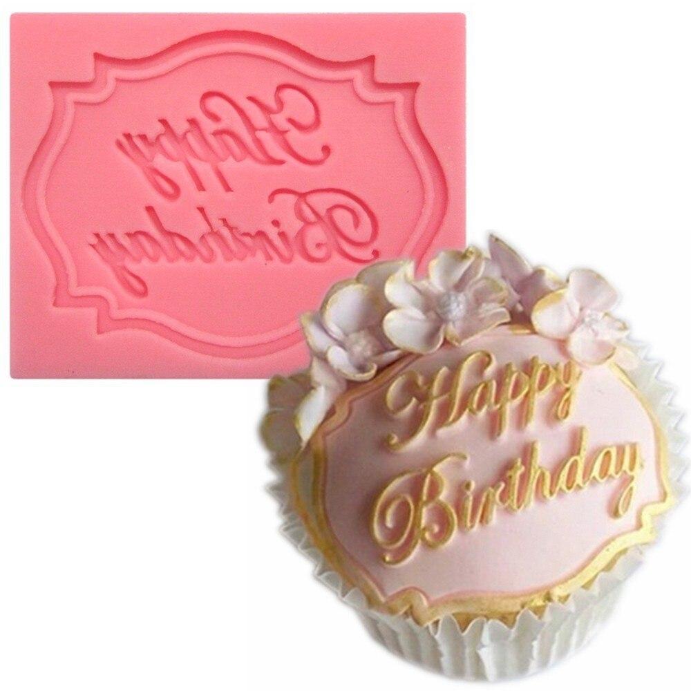 Moule 3D en Silicone pour Happy Birthday, pour gâteaux, pour tasse, pour nourriture, A388, livraison gratuite