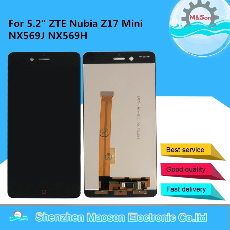 "Original M & Sen 5.2 ""Für ZTE Nubia Z17Mini Z17 Mini NX569J NX569H LCD Screen Display + Touch Panel digitizer Für Z17 Mini Display"