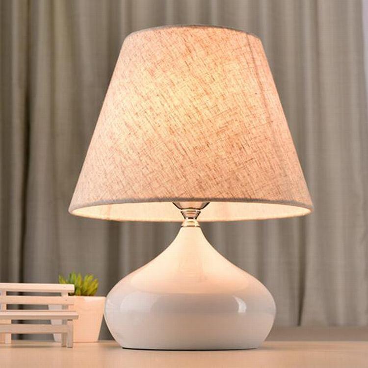 TUDA 18X37cm Free Shipping Decorative Cloth Lampshade Table Lamp Minimalist Design LED Table Lamp Elegant Metal Table Lamp E27