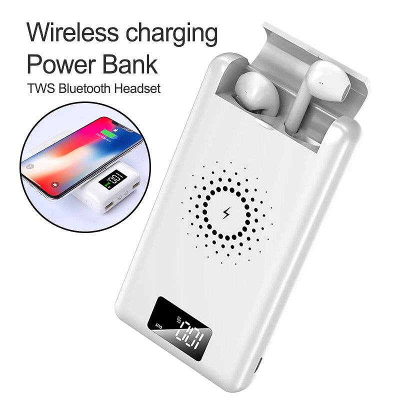Cargador rápido portátil para auriculares Bluetooth multifunción 3 en 1 cargador inalámbrico QI banco de energía para iPhone X XS Max XR