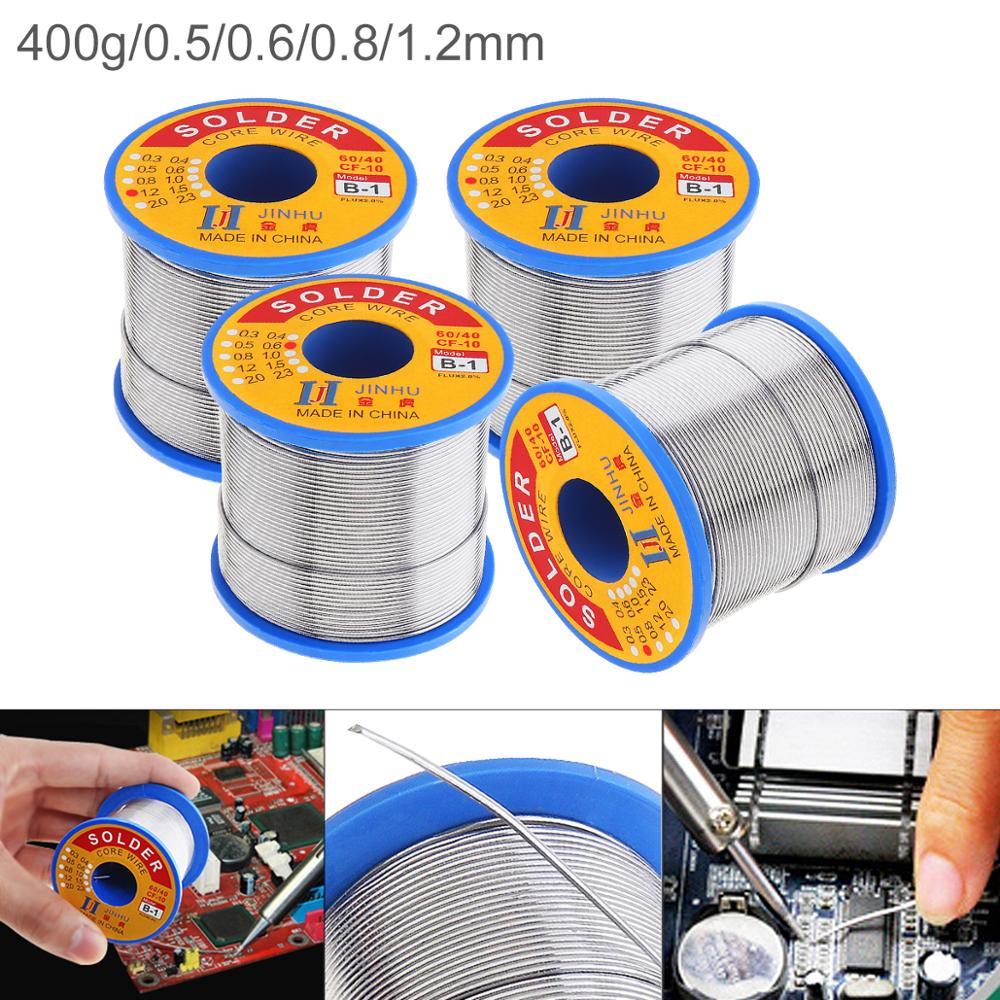 60/40 B-1 400g 0,8mm 0,5-1,2mm núcleo de resina sin limpiar Alambre de soldadura con 2.0% de flujo y bajo punto de fusión para soldador eléctrico