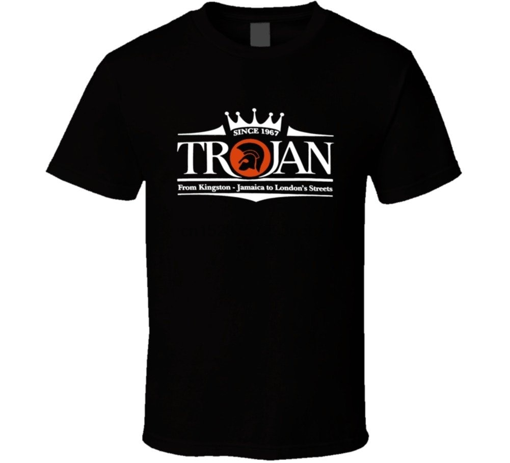 Kustom Tees 4 U Trojan discos Logo Retro de Kingston a Londres camisetas música camiseta (2)