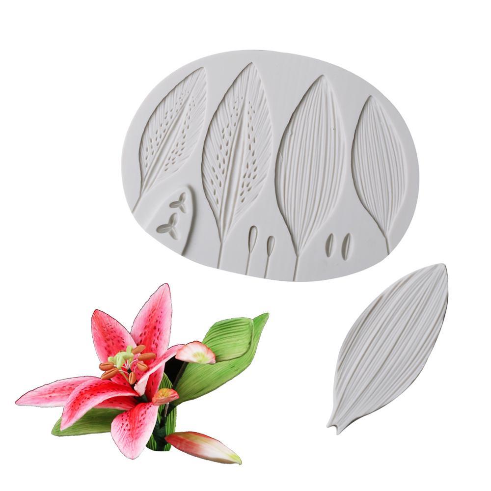Yueyue Sugarcraft Lily Flower Petal silicone mold fondant mold cake decorating tools chocolate gumpaste mold