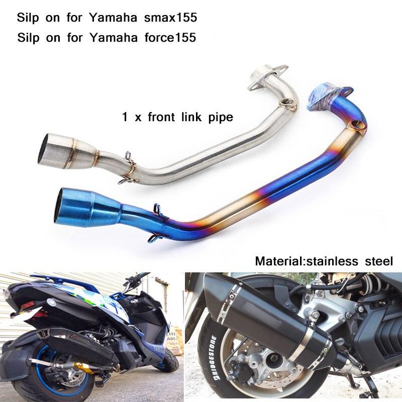 Tubería de conexión completa para motocicleta de 51mm, instalación Silp no destructiva para Yamaha smax155 force155 todos los años