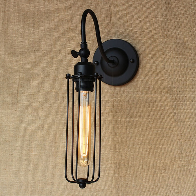 Edison morden industria americana luces de pared nostálgico Vintage hierro Loft pasillo baño vestíbulo balcón lámpara de pared para balcón