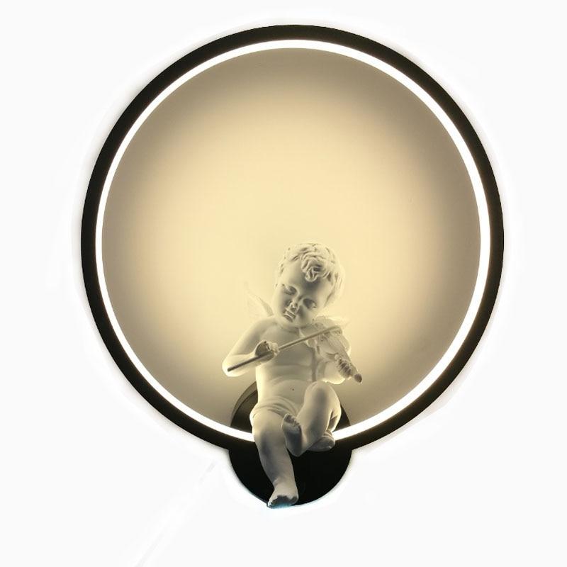 Nordic Pássaro Do Anjo CONDUZIU a Lâmpada de Parede Sconce Quarto bedlamp lampe murale metal Sala de Cabeceira Luzes de Parede Casa 110-240 V Arandela