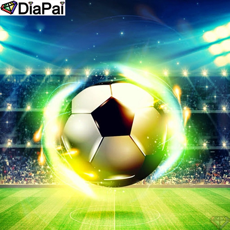 "DiaPai 100% Full Square/Round Drill 5D DIY Diamond Painting ""Football scenery "" Diamond Embroidery Cross Stitch 3D Decor A20961"